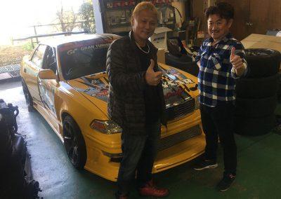 Bee-Racing JZX100 Mark 2 D1 Car Driven by D1GP Legend Tezuka